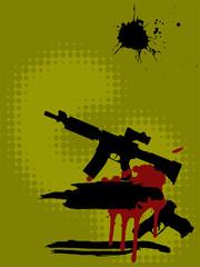 Gewehr und Pistole - Silhouette