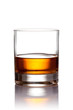 Glass of scotch whiskey with clipping path