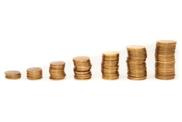 Coins graph - horizontal