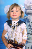 girl in the sea with the navy dress