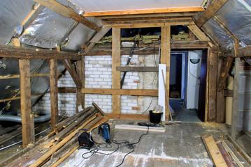 Dachstuhl ausbauen - roof truss reconstruct 01