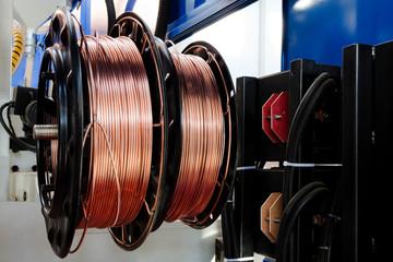 shiny copper wire