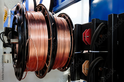 shiny copper wire
