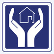 house care sign vector