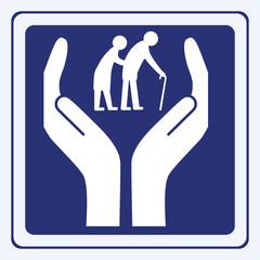 elderly people care vector