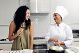 Cookery course: cooking and laughing