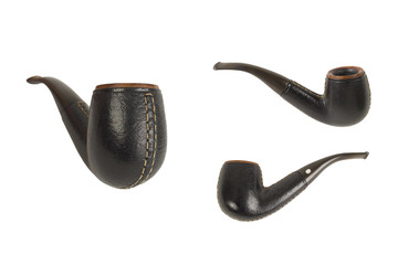 black leather pipe