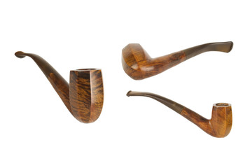geometricaly shaped wooden pipe