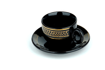 cup and saucer isolated