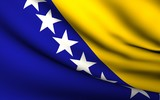 Flying Flag of Bosnia and Herzegovina | All Countries Collection poster