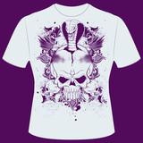 T-Shirt Print Skull Cobra poster