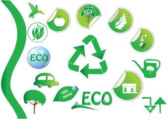 Set of ecological elements