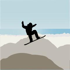 snowboarding - vector