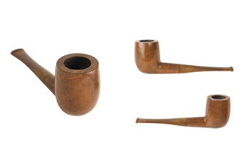 pipe with brown handle