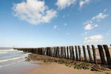 Poles at the beach