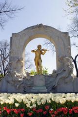Vienna - Johann Strauss landmark in Stadt park