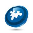 puzzle zeichen baustein spiel icon