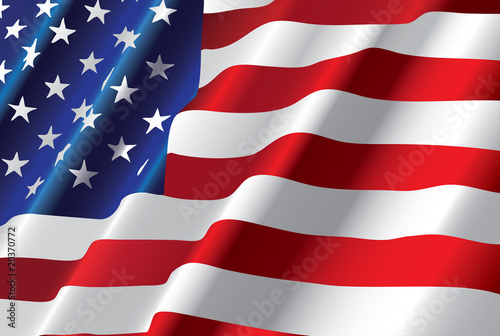 wektorowa amerykańska flaga
