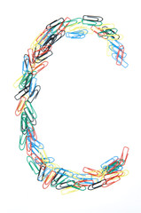 Paperclip Alphabet Letter C