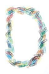 Paperclip Alphabet Letter D