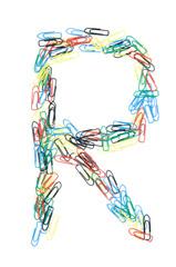 Paperclip Alphabet Letter R