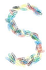 Paperclip Alphabet Letter S