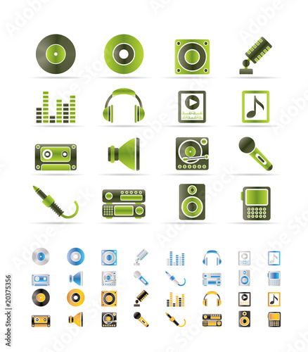 Music and sound icons -  Vector Icon Set