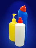 toiletries bottles poster