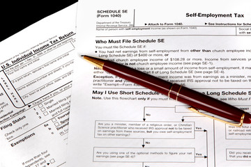 Tax forms for the self employed