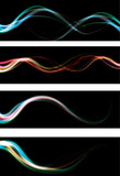 abstract light effect web banners. EPS10 with transparency poster
