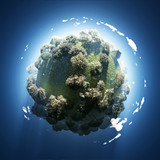 spring on small green planet