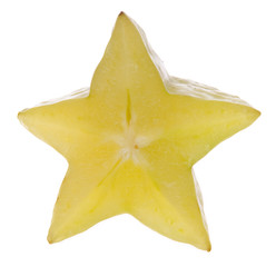 Carambola Starfruit Isolated on White