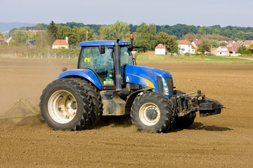 tractor on field, Czech Republic