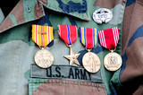 World war II veteran medals poster