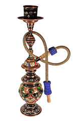 Copper hookah, isolated on a white background