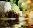 Spa and body care treatment.Blurred Background
