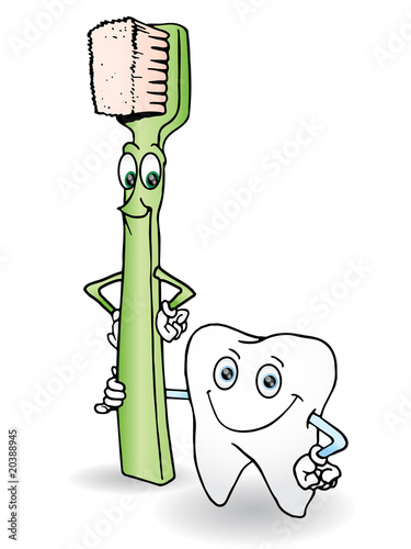 tooth brush and tooth