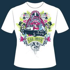 T-Shirt Print Pinup Girl Las Vegas