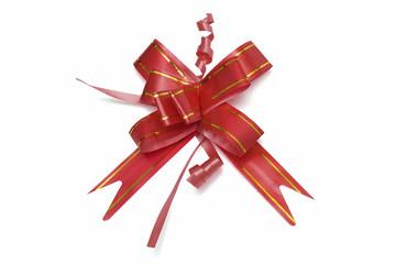 Lazo rojo para regalo.