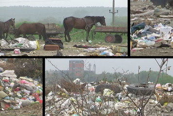 Montage Landfill and garbage