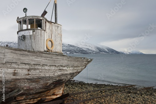 Weathered fishing boat Kvaloya Sallir