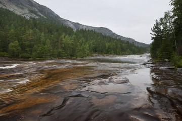 Giovdal river valley near Smelandgian, Norway