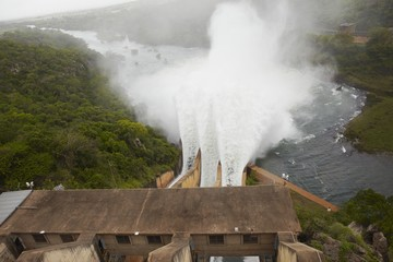 Elevated view of Pongolapoort dam, South Africa