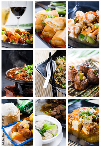 chinese food mosaic