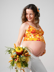 The pregnant girl