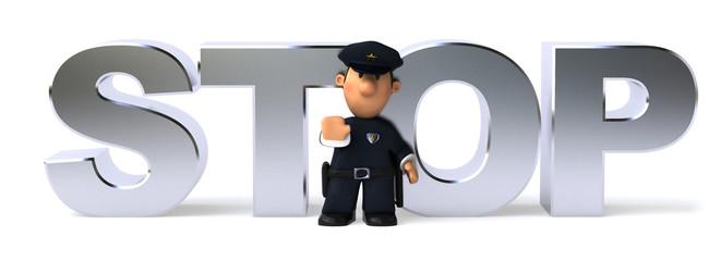 Policier et stop