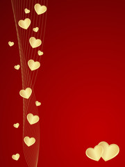 Red vector Valentine background