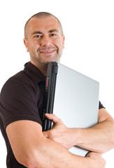 Mann mit dem Laptop