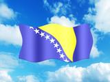 Bandeira da Bosnia-Herzegovina poster