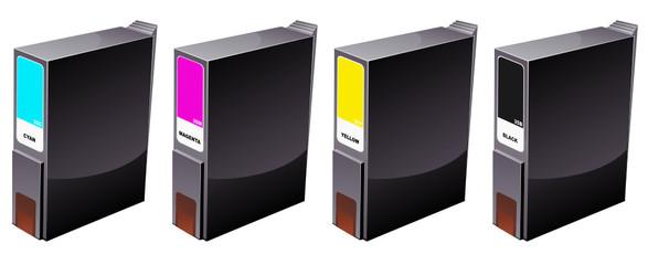 Cartouches d'imprimante à jet d'encre (détouré)